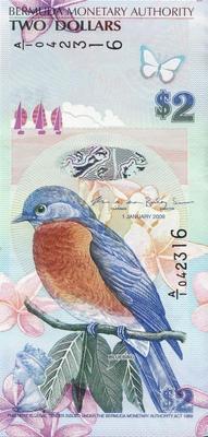 2 доллара 2009 Бермуды.