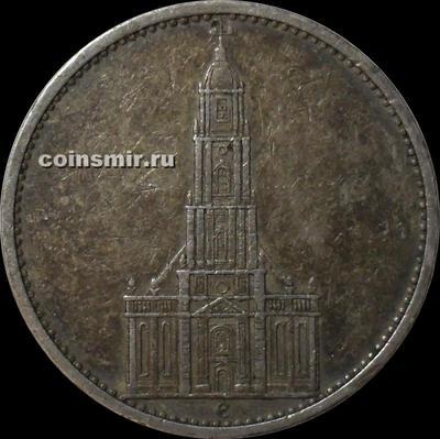 5 марок 1935 Е Германия. Кирха.