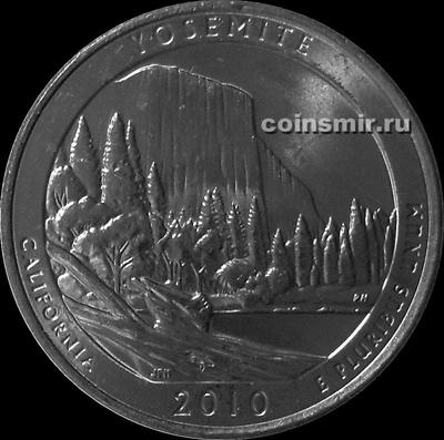 25 центов 2010 D США. Йосемити (Калифорния). 3-й