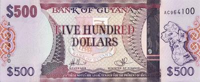 500 долларов 2011 Гайана.