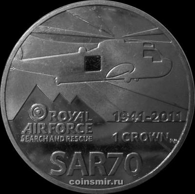 1 крона 2011 Фолклендские острова. 70 лет службе поиска и спасения Королевских военно-воздушных сил Великобритании.