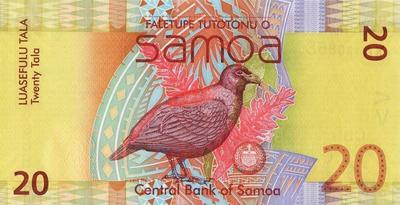 20 тал 2008 Самоа. Зубчатоклювый голубь.