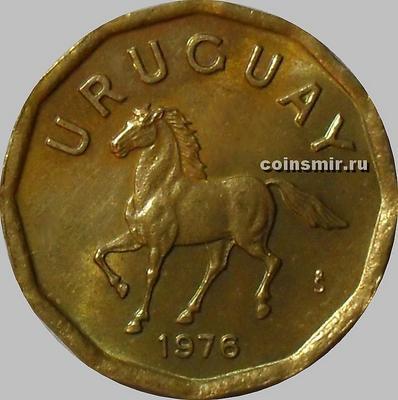 10 сентесимо 1976 Уругвай. Лошадь.