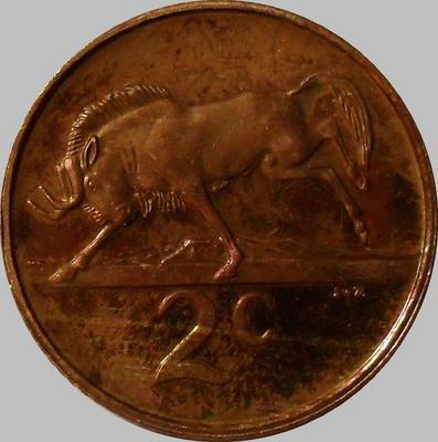 2 цента 1983 Южная Африка.