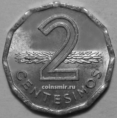 2 сентесимо 1977 Уругвай. ХF