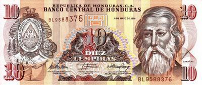 10 лемпиров 2010 Гондурас.