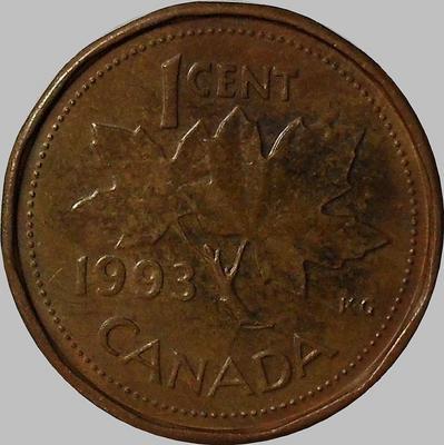 1 цент 1993 Канада.
