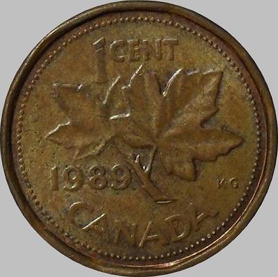 1 цент 1989 Канада.
