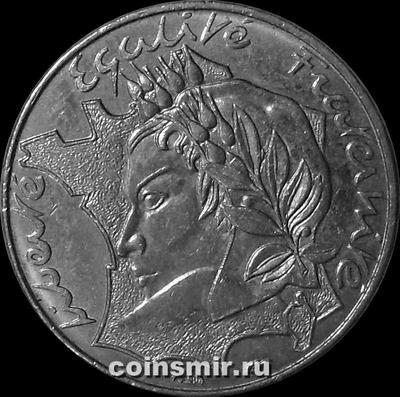 10 франков 1986 Франция.  Мадам Республика.