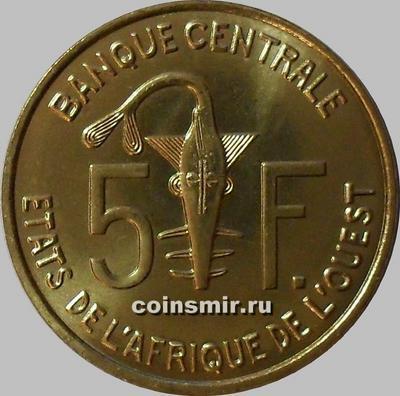 5 франков 2009 КФА BCEAO Западная Африка. (в наличии 2012 год)
