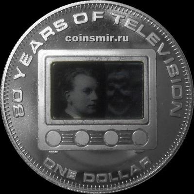 1 доллар 2006 Острова Кука. 80 лет телевидению.