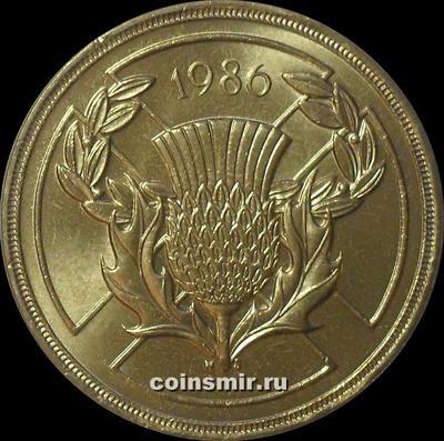 2 фунта 1986 Великобритания. XIII Игры Содружества. Эдинбург.