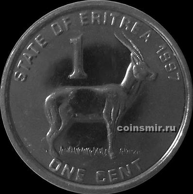 1 цент 1997 Эритрея. Газель.
