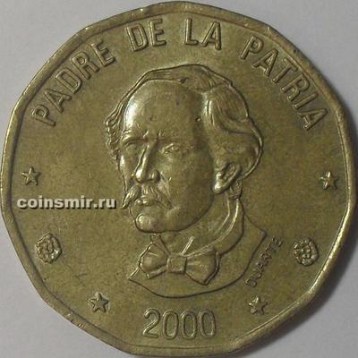 1 песо 2000 Доминиканская республика.