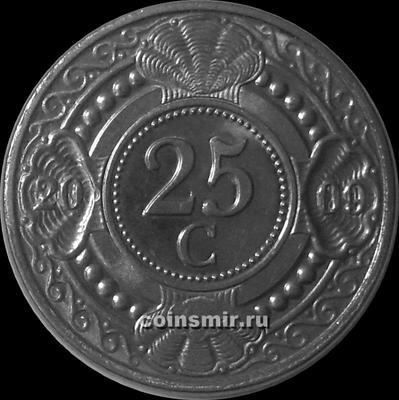 25 центов 2009 Нидерландские Антильские острова.