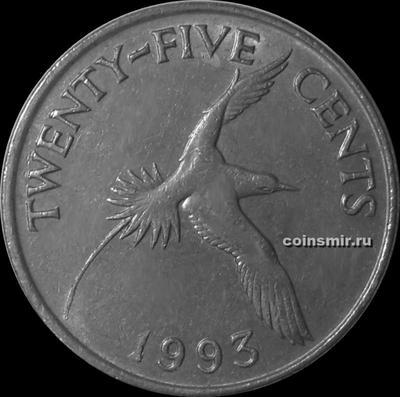 25 центов 1993 Бермуды. (в наличии 1986 год)