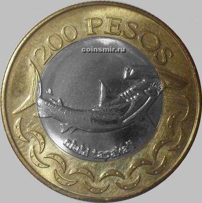 200 песо 2007 остров Пасхи. Акула-молот.