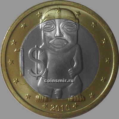 1 доллар 2010 Острова Кука. Тангароа. Биметалл.