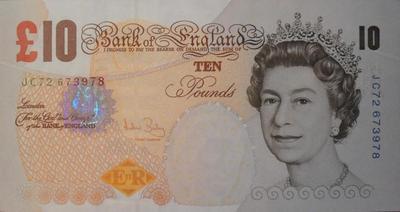 10 фунтов 2000 Великобритания. Чарльз Дарвин.
