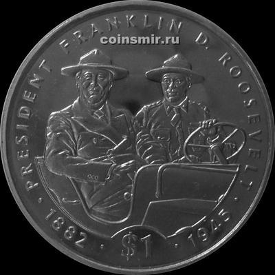 1 доллар 1995 Либерия. Франклин Делано Рузвельт - 32-й президент США.