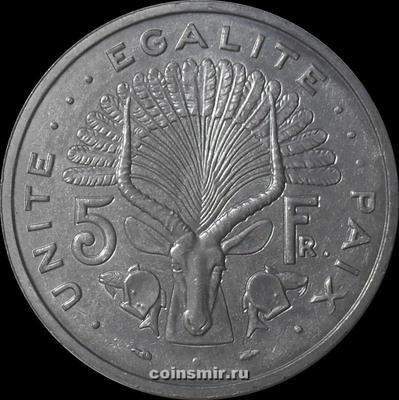 5 франков 1991 Джибути.