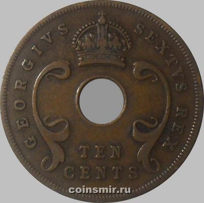 10 центов 1951 Британская восточная Африка.