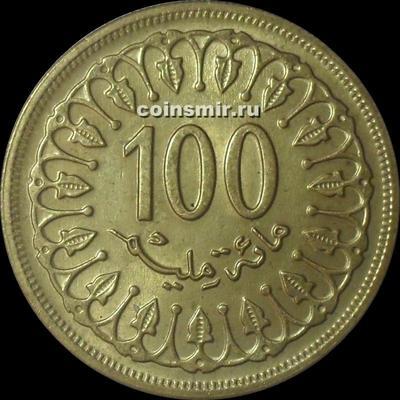100 миллим 1983 Тунис.