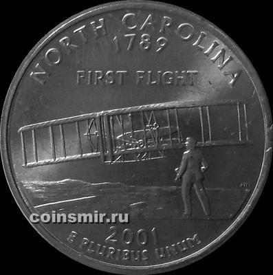 25 центов 2001 Р США. Северная Каролина.