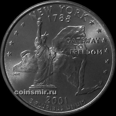 25 центов 2001 Р США. Нью-Йорк.