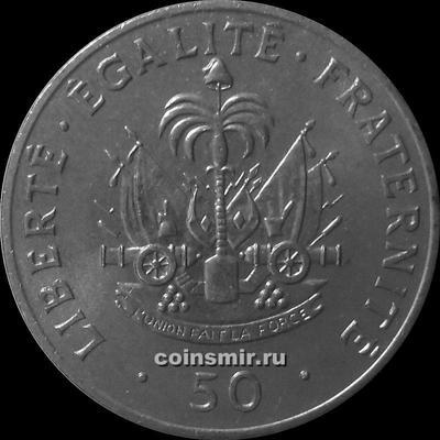 50 сантимов 1991 Гаити. Шарлемань Перальт.