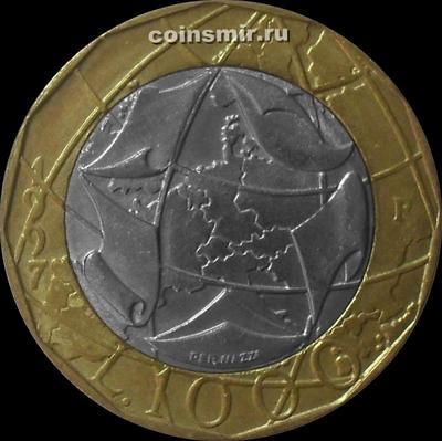 1000 лир 1997 Италия.