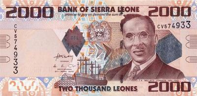 2000 леоне 2010 Сьерра-Леоне.