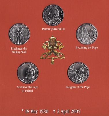 Набор монет 2005 Мальтийский орден. Папа Иоанн Павел II. Английский язык.