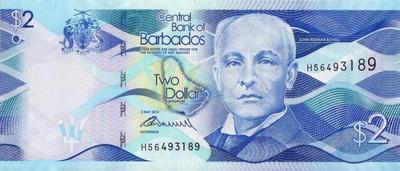 2 доллара 2013 Барбадос.