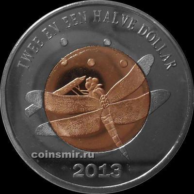 2 1/2 доллара 2013 остров Синт-Эстатиус (святого Евстафия). Стрекоза.