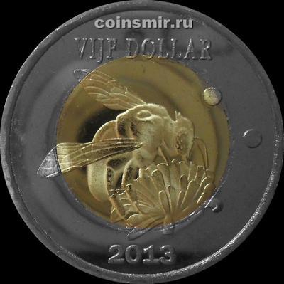5 долларов 2013 остров Синт-Эстатиус (святого Евстафия). Пчела.