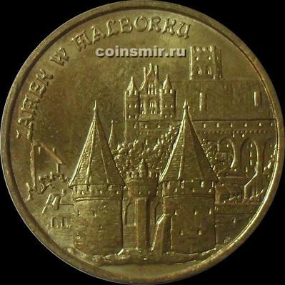 2 злотых 2002 Польша. Замок в Мальборке.