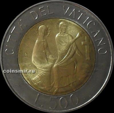500 лир 1986 / VIII Ватикан. Мария  и Иисус.