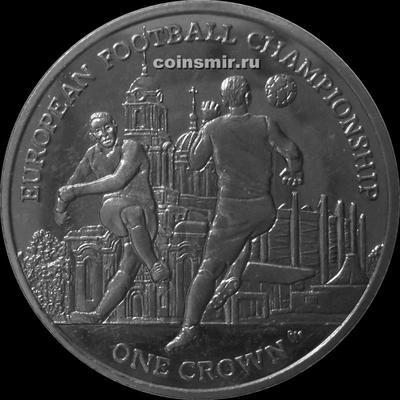 1 крона 2012 остров Мэн. Чемпионат Европы по футболу 2012.