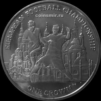 1 крона 2012 остров Мэн. Чемпионат Европы по футболу 2012. (2)