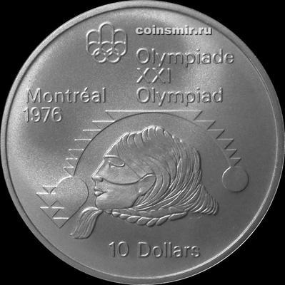 10 долларов 1975 Канада. Олимпиада в Монреале 1976. Толкание ядра.