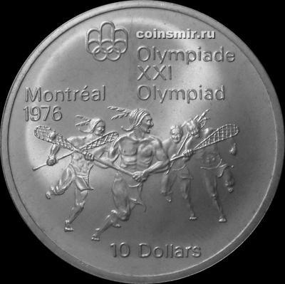 10 долларов 1974 Канада. Лакросс. Олимпиада в Монреале 1976.