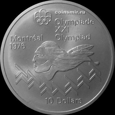 10 долларов 1975 Канада. Бег с препятствиями. Олимпиада в Монреале 1976.