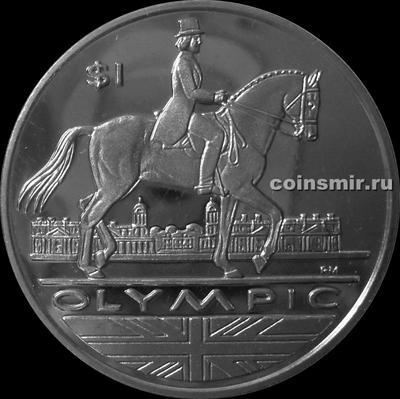 1 доллар 2012 Британские Виргинские острова. Олимпиада в Лондоне 2012. Верховая езда.