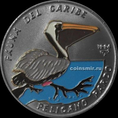 1 песо 1994 Куба. Пеликан.