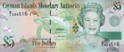 5 долларов 2010 Каймановы острова.