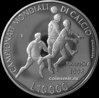 10000 лир 1998 Сан-Марино. Чемпионат мира по футболу во Франции 1998.