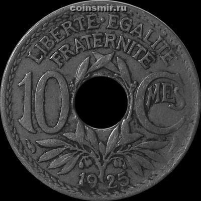 10 сантимов 1925 Франция.
