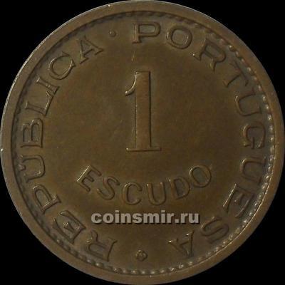 1 эскудо 1972 Португальская Ангола.