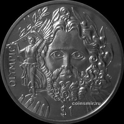 1 доллар 2013 Британские Виргинские острова. Отец современных олимпийских игр — барон Пьер де Кубертен.